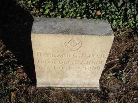 BAKER, BERNARD L - Barnstable County, Massachusetts | BERNARD L BAKER - Massachusetts Gravestone Photos