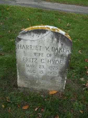 BAKER, HARRIET V - Barnstable County, Massachusetts | HARRIET V BAKER - Massachusetts Gravestone Photos