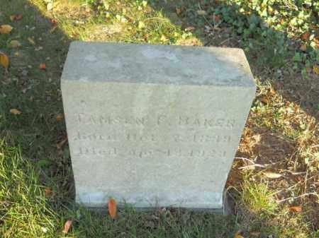 BAKER, TAMSEN F - Barnstable County, Massachusetts | TAMSEN F BAKER - Massachusetts Gravestone Photos