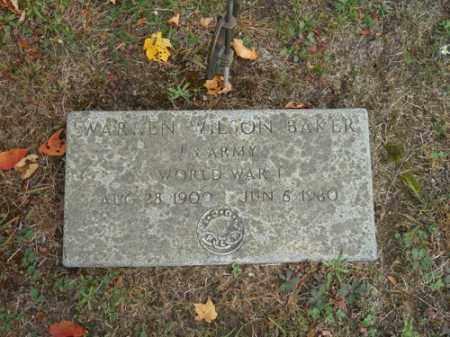 BAKER (WWI), WARREN WILSON - Barnstable County, Massachusetts   WARREN WILSON BAKER (WWI) - Massachusetts Gravestone Photos