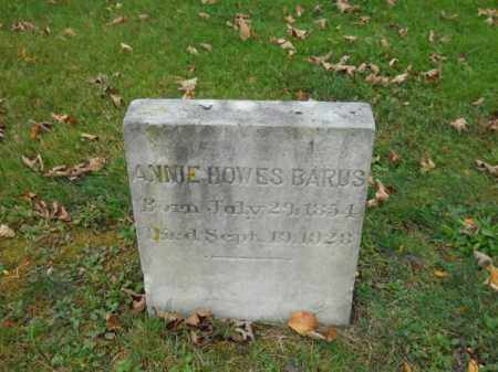 BARUS, ANNIE HOWES - Barnstable County, Massachusetts | ANNIE HOWES BARUS - Massachusetts Gravestone Photos
