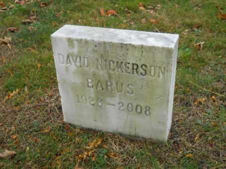 BARUS, DAVID NICKERSON - Barnstable County, Massachusetts | DAVID NICKERSON BARUS - Massachusetts Gravestone Photos
