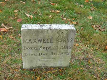 BARUS, MAXWELL - Barnstable County, Massachusetts | MAXWELL BARUS - Massachusetts Gravestone Photos