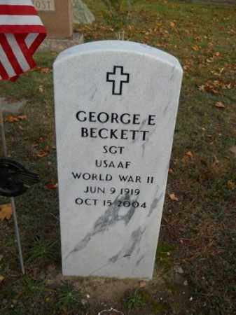 BECKETT, GEORGE E - Barnstable County, Massachusetts | GEORGE E BECKETT - Massachusetts Gravestone Photos