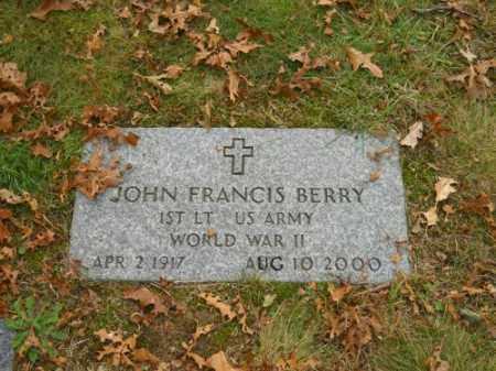 BERRY (WWII), JOHN FRANCIS - Barnstable County, Massachusetts | JOHN FRANCIS BERRY (WWII) - Massachusetts Gravestone Photos