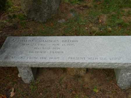 BROWN, DAVID CHAMBERS - Barnstable County, Massachusetts   DAVID CHAMBERS BROWN - Massachusetts Gravestone Photos