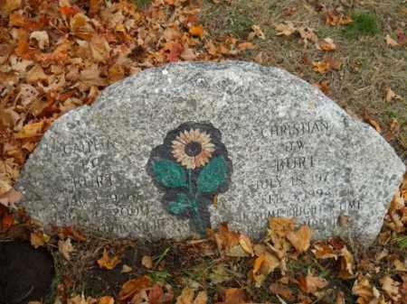 BURT, CHRISTIAN D W - Barnstable County, Massachusetts   CHRISTIAN D W BURT - Massachusetts Gravestone Photos