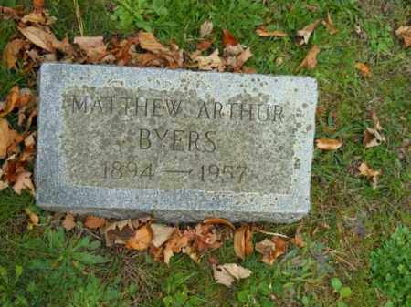 BYERS, MATTHEW ARTHUR - Barnstable County, Massachusetts | MATTHEW ARTHUR BYERS - Massachusetts Gravestone Photos