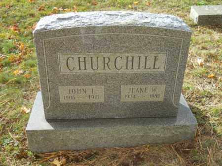CHURCHILL, JEANE W - Barnstable County, Massachusetts | JEANE W CHURCHILL - Massachusetts Gravestone Photos
