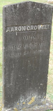 CROWELL, AARON. - Barnstable County, Massachusetts | AARON. CROWELL - Massachusetts Gravestone Photos
