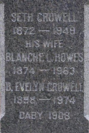 CROWELL, BABY - Barnstable County, Massachusetts | BABY CROWELL - Massachusetts Gravestone Photos