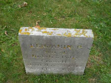 CROWELL, BENJAMIN P - Barnstable County, Massachusetts | BENJAMIN P CROWELL - Massachusetts Gravestone Photos