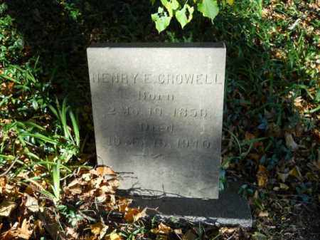 CROWELL, HENRY E - Barnstable County, Massachusetts | HENRY E CROWELL - Massachusetts Gravestone Photos