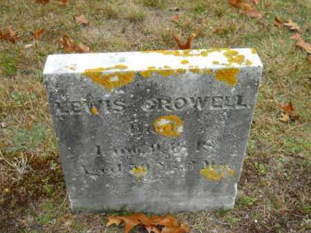 CROWELL, LEWIS - Barnstable County, Massachusetts | LEWIS CROWELL - Massachusetts Gravestone Photos