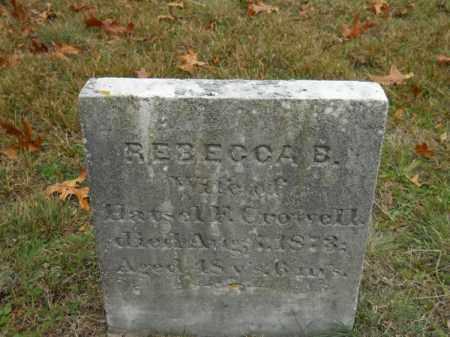 CROWELL, REBECCA B - Barnstable County, Massachusetts | REBECCA B CROWELL - Massachusetts Gravestone Photos