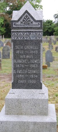 CROWELL, BLANCHE EVELYN - Barnstable County, Massachusetts   BLANCHE EVELYN CROWELL - Massachusetts Gravestone Photos