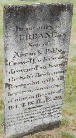 CROWELL, URBANE - Barnstable County, Massachusetts | URBANE CROWELL - Massachusetts Gravestone Photos