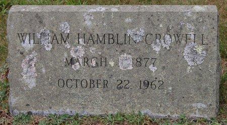 CROWELL, WILLIAM HAMBLIN - Barnstable County, Massachusetts   WILLIAM HAMBLIN CROWELL - Massachusetts Gravestone Photos