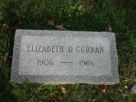 CURRAN, ELIZABETH D - Barnstable County, Massachusetts   ELIZABETH D CURRAN - Massachusetts Gravestone Photos