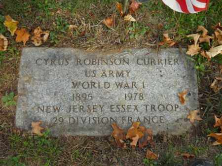 CURRIER (WWI), CYRUS ROBINSON - Barnstable County, Massachusetts | CYRUS ROBINSON CURRIER (WWI) - Massachusetts Gravestone Photos