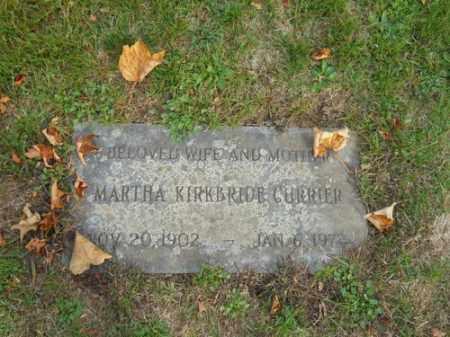 KIRKBRIDE CURRIER, MARTHA - Barnstable County, Massachusetts   MARTHA KIRKBRIDE CURRIER - Massachusetts Gravestone Photos