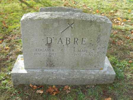 D'ABRE, EDGAR R - Barnstable County, Massachusetts | EDGAR R D'ABRE - Massachusetts Gravestone Photos