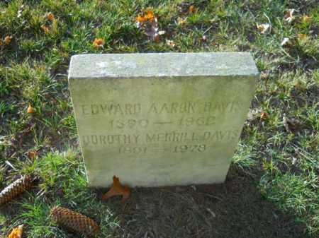 DAVIS, EDWARD AARON - Barnstable County, Massachusetts | EDWARD AARON DAVIS - Massachusetts Gravestone Photos