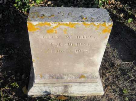 DAVIS, LUCY W - Barnstable County, Massachusetts   LUCY W DAVIS - Massachusetts Gravestone Photos