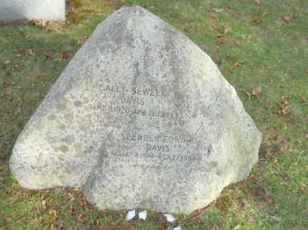 DAVIS, SALLY SEWELL - Barnstable County, Massachusetts   SALLY SEWELL DAVIS - Massachusetts Gravestone Photos