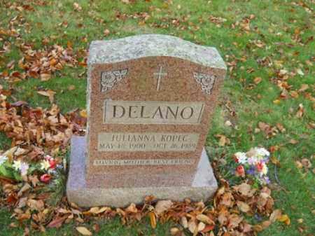 DELANO, JULIANNA KOPEC - Barnstable County, Massachusetts | JULIANNA KOPEC DELANO - Massachusetts Gravestone Photos