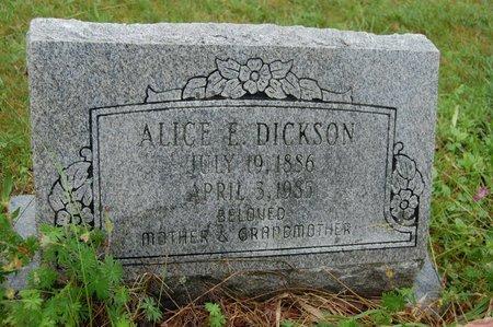 DICKSON, ALICE E. - Barnstable County, Massachusetts   ALICE E. DICKSON - Massachusetts Gravestone Photos
