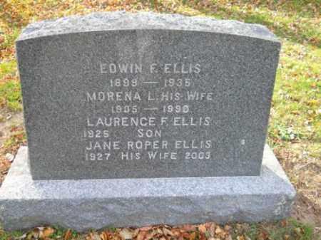 ELLIS, EDWIN F - Barnstable County, Massachusetts | EDWIN F ELLIS - Massachusetts Gravestone Photos