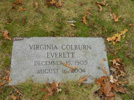 EVERETT, VIRGINIA COLBURN - Barnstable County, Massachusetts | VIRGINIA COLBURN EVERETT - Massachusetts Gravestone Photos