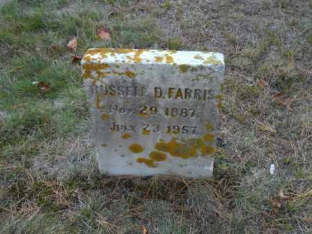 FARRIS, RUSSELL D - Barnstable County, Massachusetts | RUSSELL D FARRIS - Massachusetts Gravestone Photos