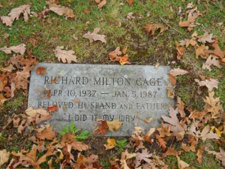 GAGE, RICHARD MILTON - Barnstable County, Massachusetts | RICHARD MILTON GAGE - Massachusetts Gravestone Photos