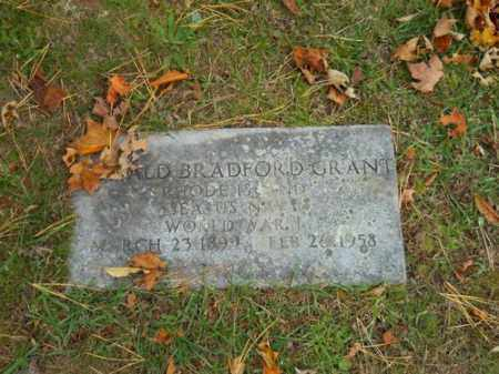 GRANT (WWI), RONALD BRADFORD - Barnstable County, Massachusetts | RONALD BRADFORD GRANT (WWI) - Massachusetts Gravestone Photos