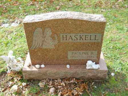 HASKELL, PAULINE B - Barnstable County, Massachusetts | PAULINE B HASKELL - Massachusetts Gravestone Photos