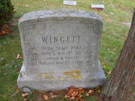 WINGETT, CAROLYN M - Barnstable County, Massachusetts | CAROLYN M WINGETT - Massachusetts Gravestone Photos