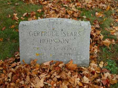 SEARS HODSON, GERTRUDE - Barnstable County, Massachusetts | GERTRUDE SEARS HODSON - Massachusetts Gravestone Photos