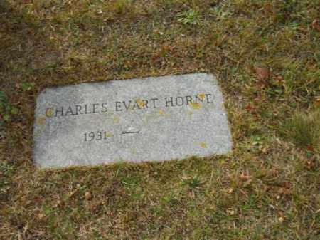 HORNE, CHARLES EVART - Barnstable County, Massachusetts | CHARLES EVART HORNE - Massachusetts Gravestone Photos