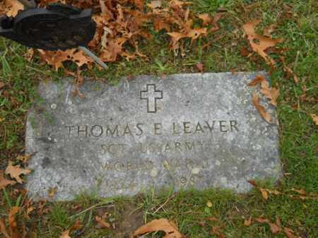 LEAVER (WWII), THOMAS E - Barnstable County, Massachusetts | THOMAS E LEAVER (WWII) - Massachusetts Gravestone Photos