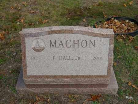 MACHON, F HALL JR - Barnstable County, Massachusetts   F HALL JR MACHON - Massachusetts Gravestone Photos