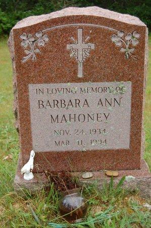 MAHONEY, BARBARA ANN - Barnstable County, Massachusetts   BARBARA ANN MAHONEY - Massachusetts Gravestone Photos