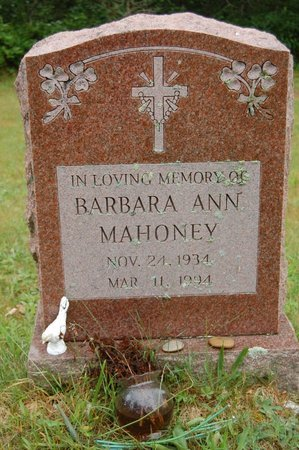 MAHONEY, BARBARA ANN - Barnstable County, Massachusetts | BARBARA ANN MAHONEY - Massachusetts Gravestone Photos