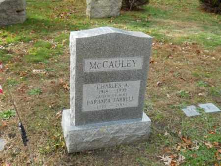 MCCAULEY, CHARLES A - Barnstable County, Massachusetts   CHARLES A MCCAULEY - Massachusetts Gravestone Photos