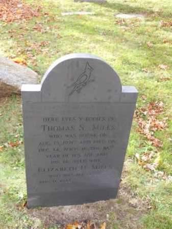 MILES, ELIZABETH H - Barnstable County, Massachusetts   ELIZABETH H MILES - Massachusetts Gravestone Photos