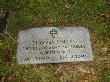 MILES (WWII), THOMAS S - Barnstable County, Massachusetts | THOMAS S MILES (WWII) - Massachusetts Gravestone Photos