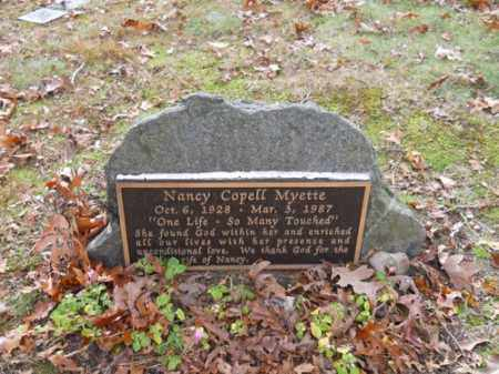 MYETTE, NANCY COPELL - Barnstable County, Massachusetts | NANCY COPELL MYETTE - Massachusetts Gravestone Photos