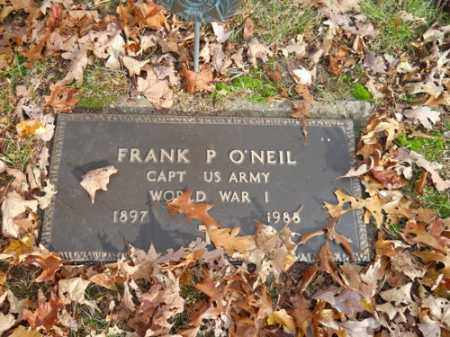 O'NEIL (WWI), FRANK P - Barnstable County, Massachusetts | FRANK P O'NEIL (WWI) - Massachusetts Gravestone Photos
