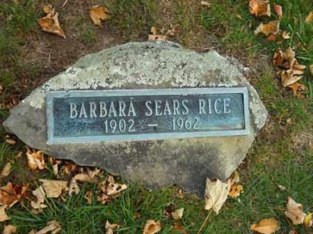 SEARS, BARBARA - Barnstable County, Massachusetts | BARBARA SEARS - Massachusetts Gravestone Photos